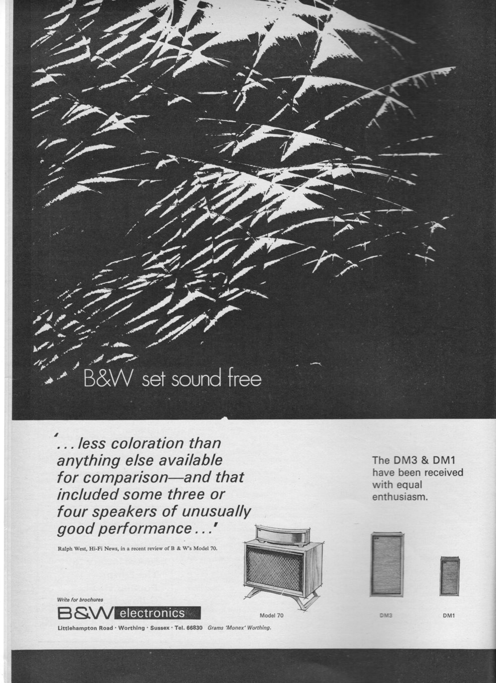 B&W Model 70, DM1, DM2 Advert 1971.jpg