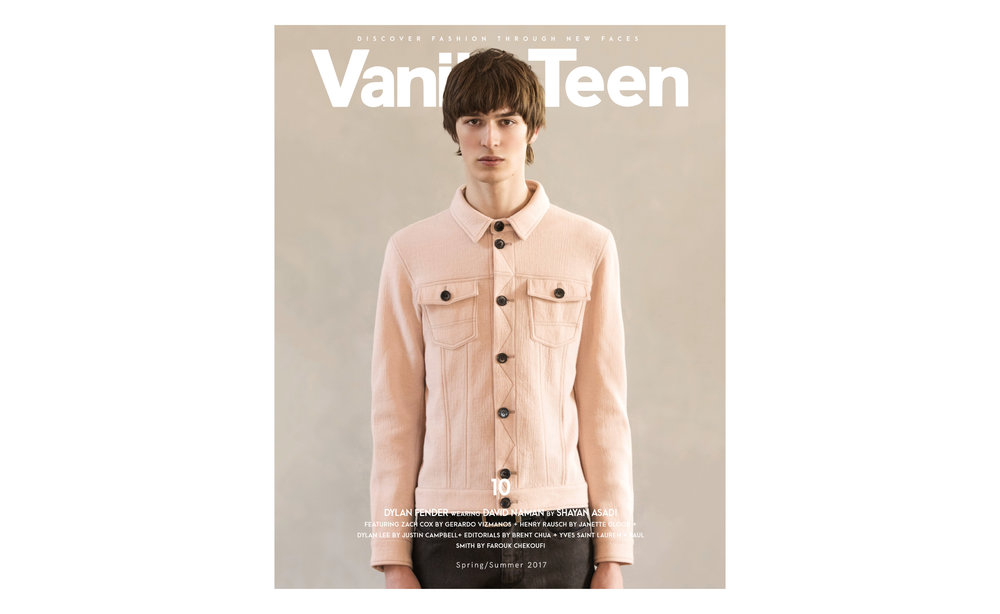 DYLAN FENDER </br><small> <i> for VANITY TEEN </small> </i>