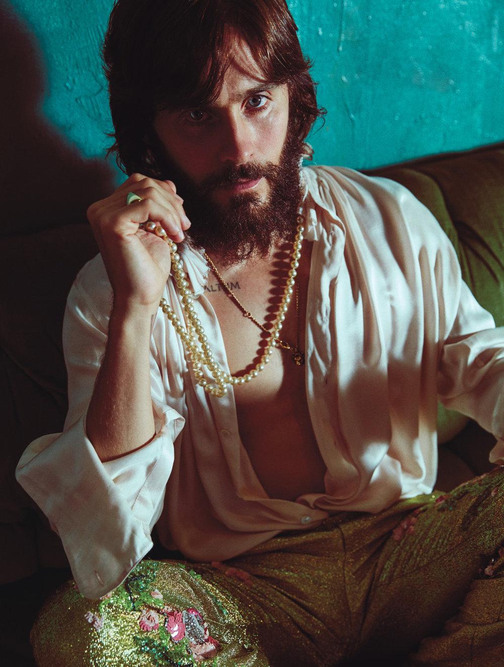 Jared Leto </br><small> <i> W Magazine October 2017</i> </br> Photo by Mario Sorrenti</small>
