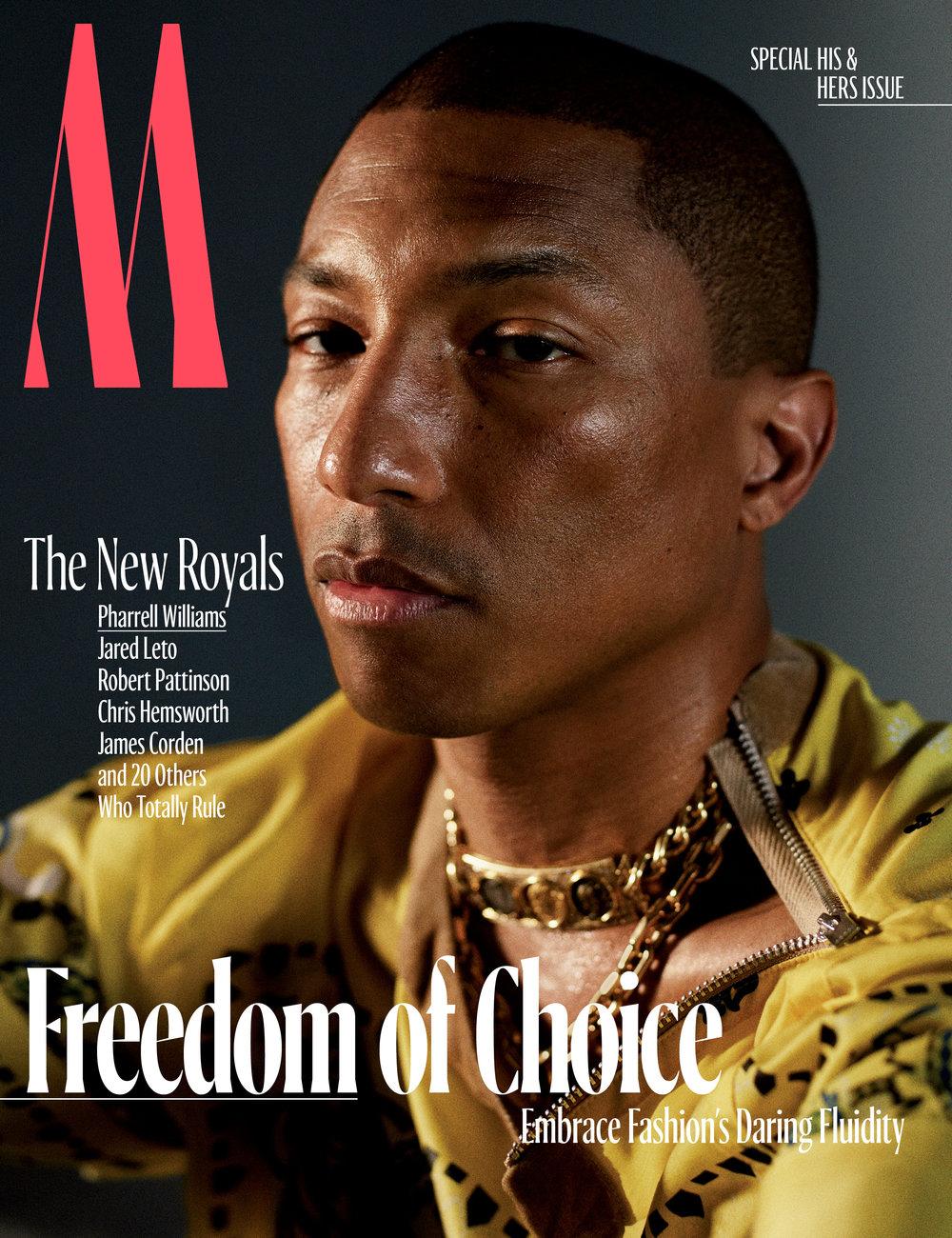 Pharrell</br><small> <i> W Magazine October 2017</i> </br> Photo by Mario Sorrenti</small>