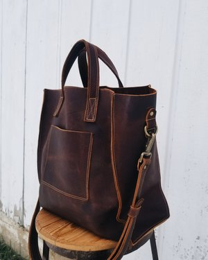 A Well Worn Story Large Leather Tote Bag Handmade in Wisconsin (11).jpg