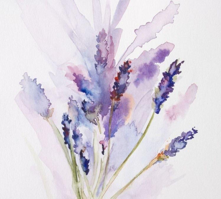 Lavender Daydreams // Watercolor