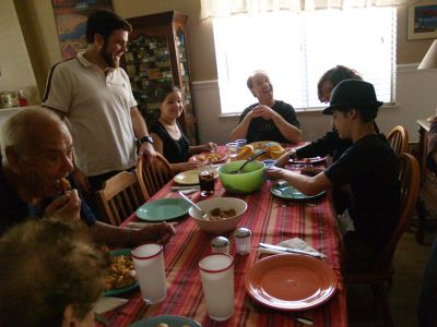 My Big Fat Cuban family around the table.