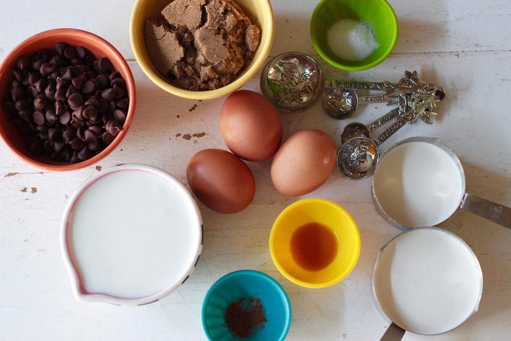 Ingredients - Krispy Kreme Bread Pudding
