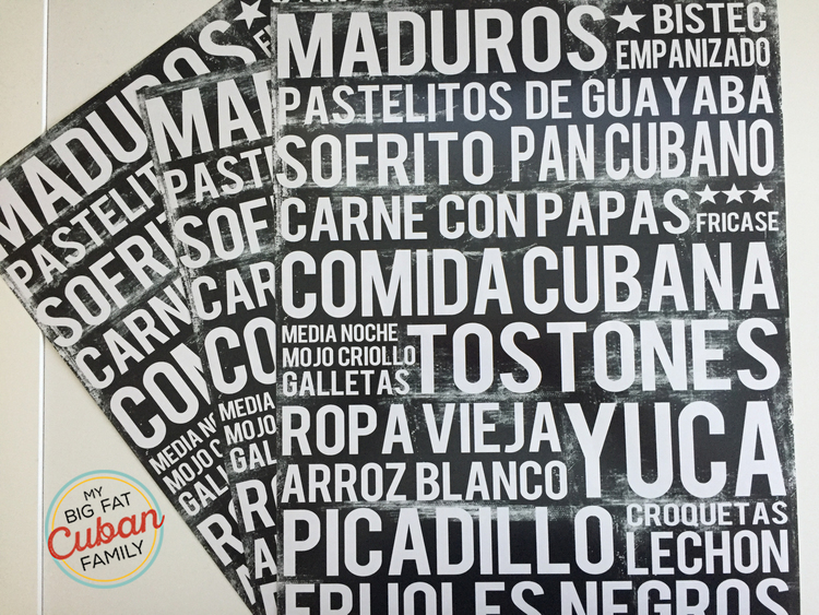 My Big Fat Cuban Family Cuban Food Poster