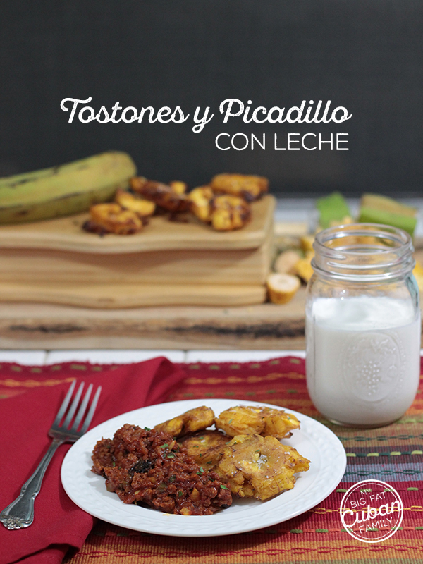 My Big Fat Cuban Family. How to make Tostones paired with picadillo. Recipe.