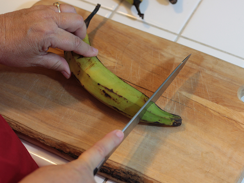 My Big Fat Cuban Family trim plantains