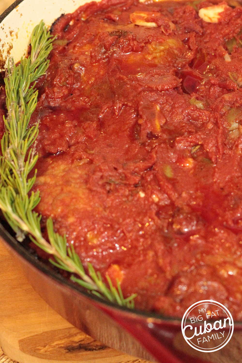 My Big Fat Cuban Family - Chicken Cacciatore Recipe