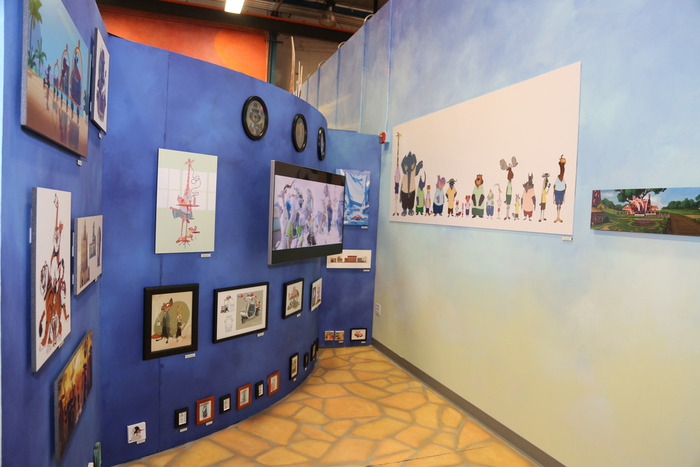 Zootopia Art Gallery. Photo courtesy of Disney