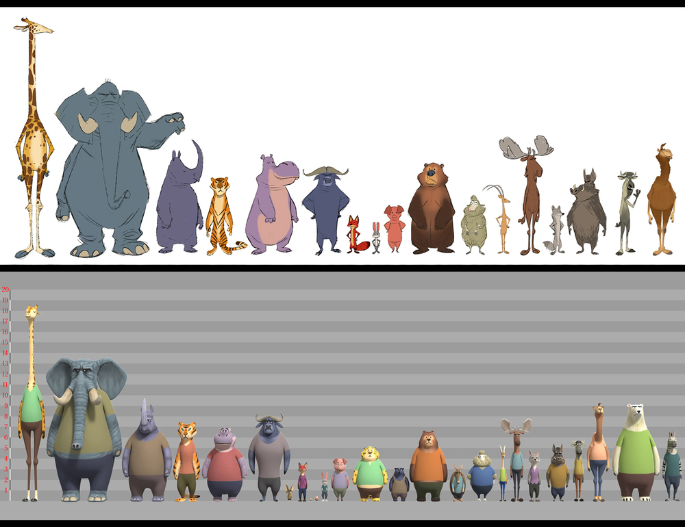 The Citizens of Zootopia come in all shapes and sizes. Photo courtesy of Disney