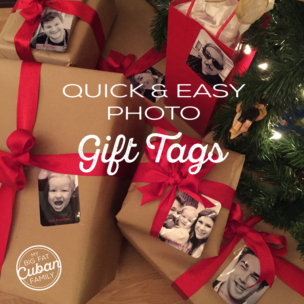 My Big Fat Cuban Family - How to Make Your Own DIY Photo Gift Tags