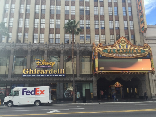 Disney's El Capitan Theatre on Hollywood Blvd. Photo: M.Darby