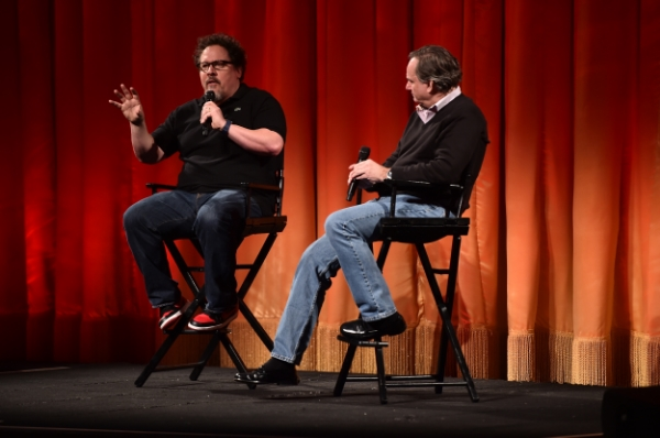 Director Jon Favreau and Visual Effects Supervisor Rob Legato. Disney's Jungle Book. photo: courtesy of Disney