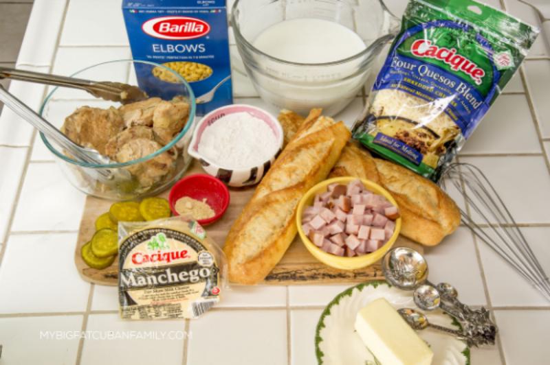 My Big Fat Cuban Family Cubano Mac and Cheese Recipe #GoAutentico #SoCu #spon