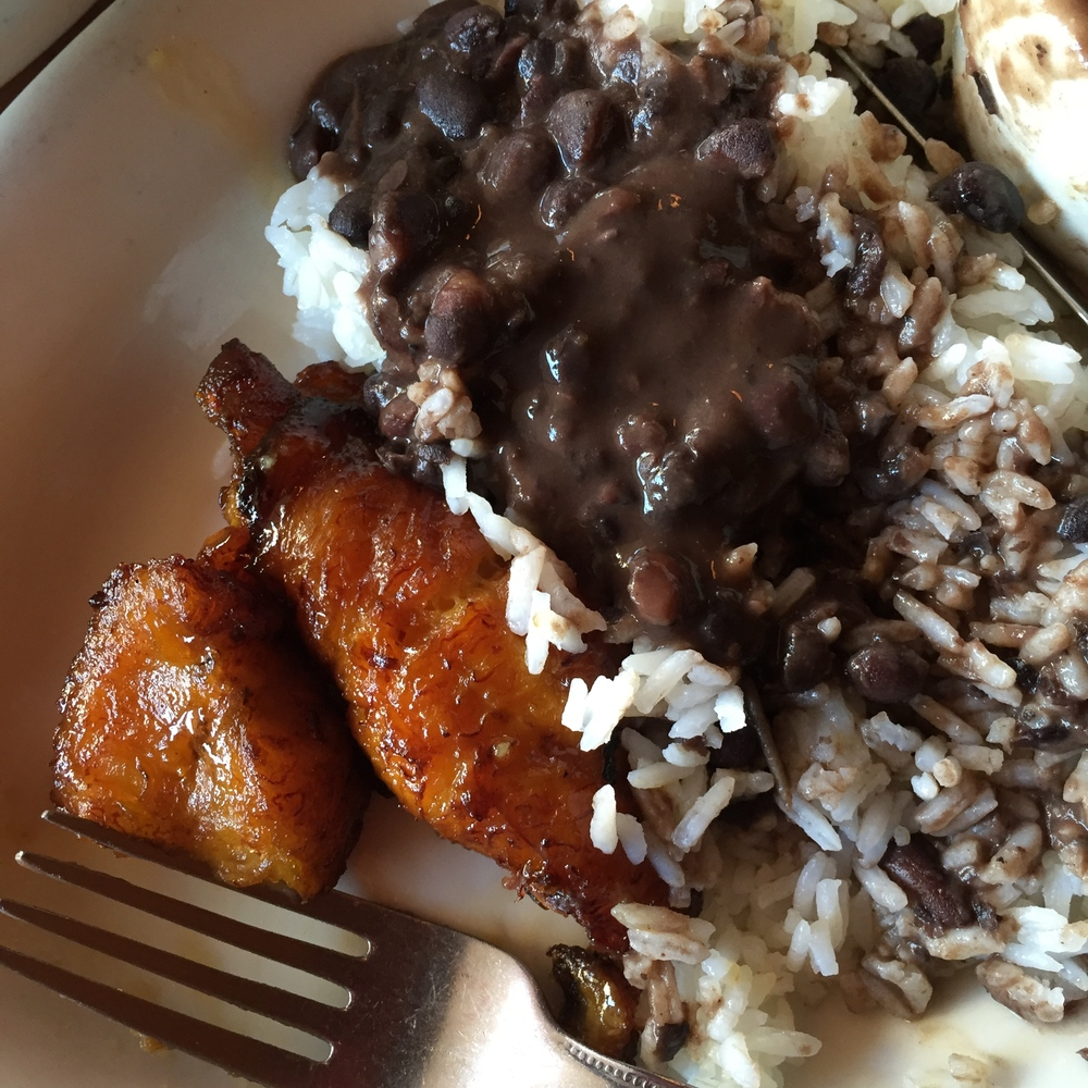 My Big Fat Cuban Family - black beans, white rice, maduros