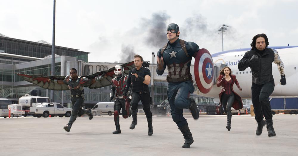 Team Cap. Photo courtesy of Marvel