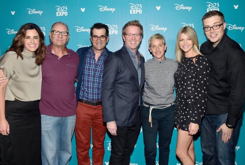 Producer Lindsey Collins, Ed O'Neill, Ty Burrell, Director Andrew Stanton, Ellen DeGeneres, Kaitlin Olsen, Co-Director Angus McLane