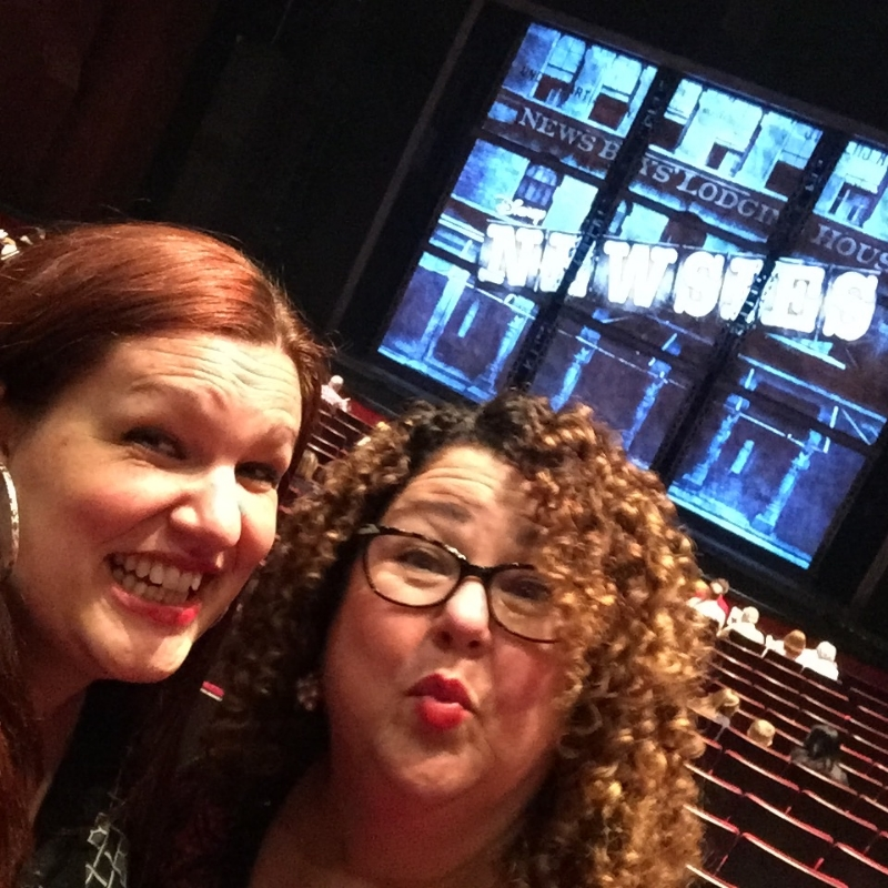 Amy and I right before curtain.