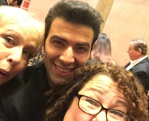 Gratuitous selfie with Jencarlos Canela and my good friend, Rose.