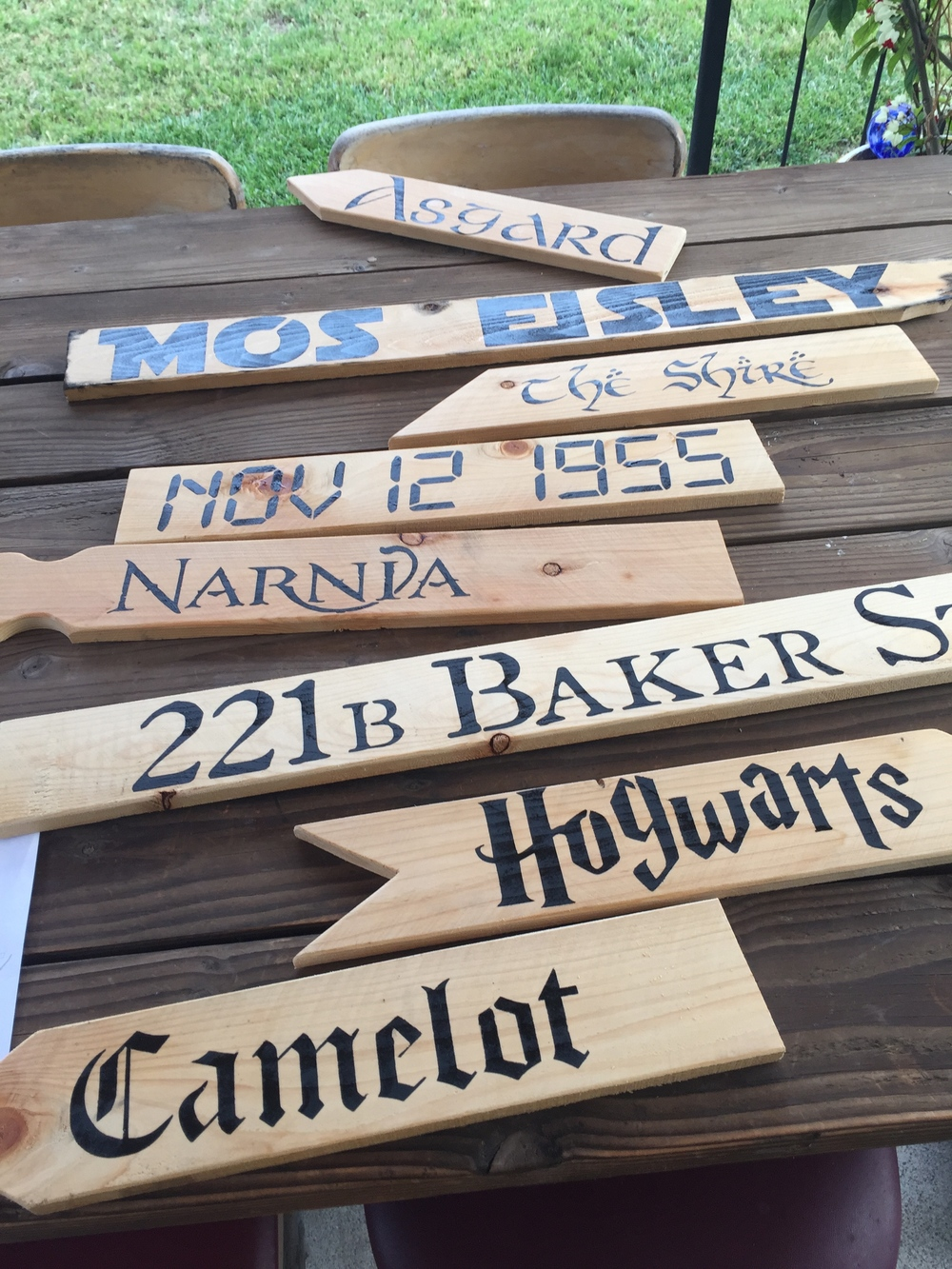 My Big Fat Cuban Family - DIY instructions to make your own nerdy destinations sign