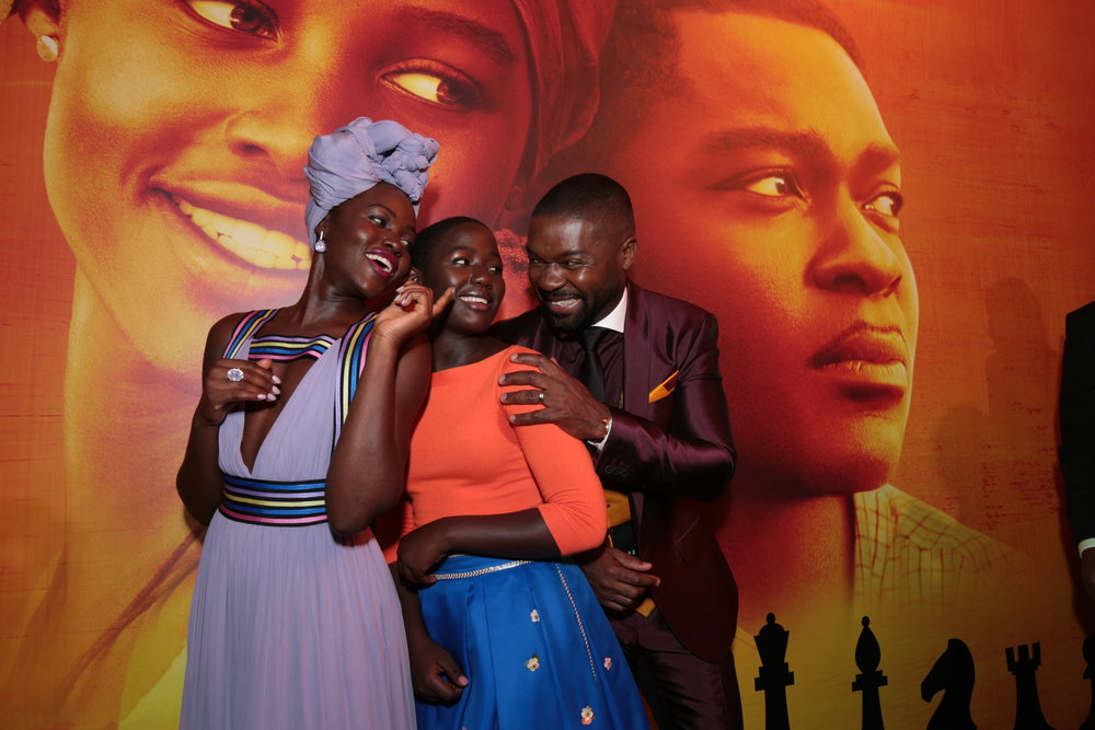 Lupita Nyong'o, Madina Nalwanga, David Oyelowo (photo: Alex J. Berliner - © ABImages)