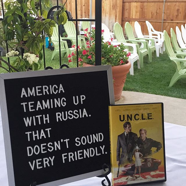 The Cold War is back on. #darbyoutdoormovies #ManFromUNCLE