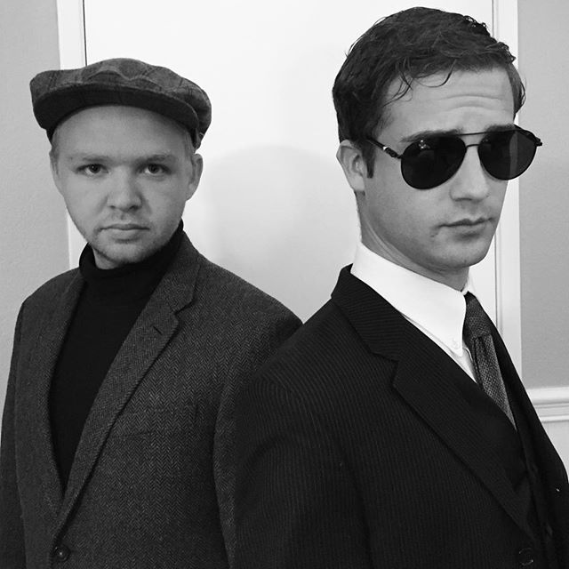 Napoleon Solo and Illya Kuryakin. Alive and well in Mission Viejo. #manfromuncle #NapoleonSolo #IllyaKuryakin #darbyoutdoormovies