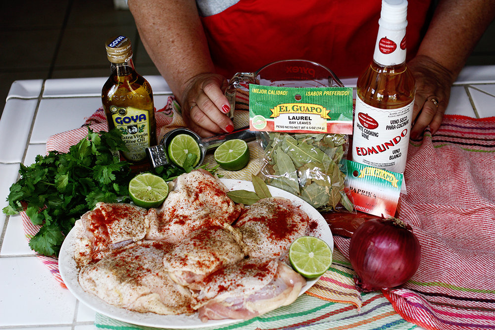 My Big Fat Cuban Family - Pollo Encebollado Ingredients