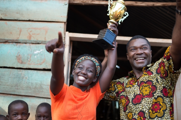 Madina Nalwanga and David Oyelowo as Phiona Mutesi and Coach Robert Katende in Queen of Katwe. Photo courtesy of Disney® - all rights reserved.