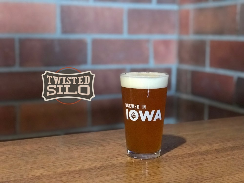 The  Twisted Silo  is a full sized brew under the style of  Iowa Farmhouse Ales' Belgian Strong Golden Ale.  Deceptively strong with a sweet base from a huge grain bill. All the Belgian yeast aromatics of our Saison in a turbo charge version.  8.6  % ABV - 25.9 IBUs