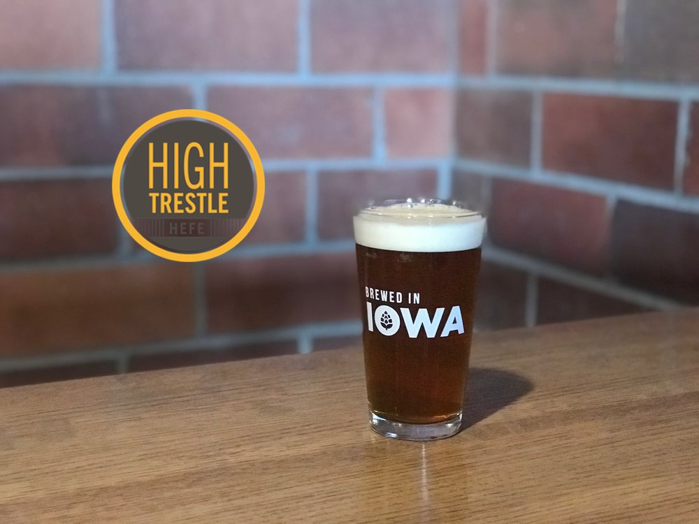 High Trestle Hefe:  This German  Hefeweizen  is made with traditional Hefe yeast that imparts distinct banana and clove phenolics.   Made with 45% wheat malt this brew is sure to quench your summer thirst!  5.25% ABV - 21.7 IBUs