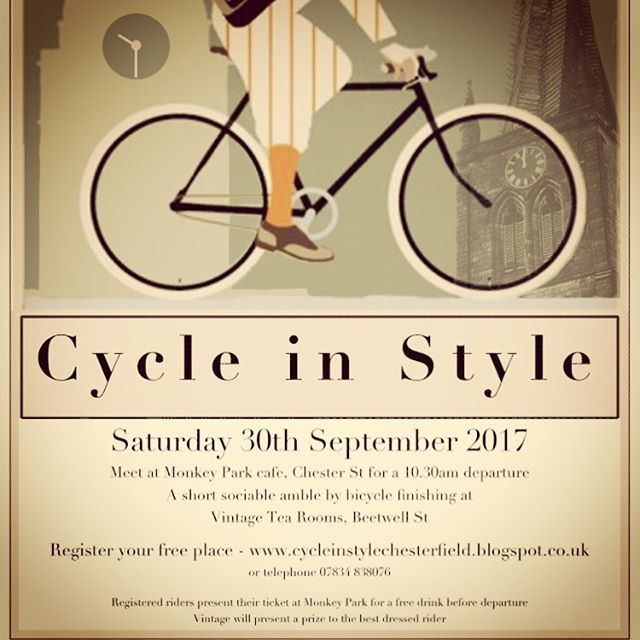 Don't forget to book your place, it would be great to see you again this year ... #prize #best #vintage #dress #chesterfield #derbyshire #derbyshirelife #cycle #style #vintagebike #peakdistrict