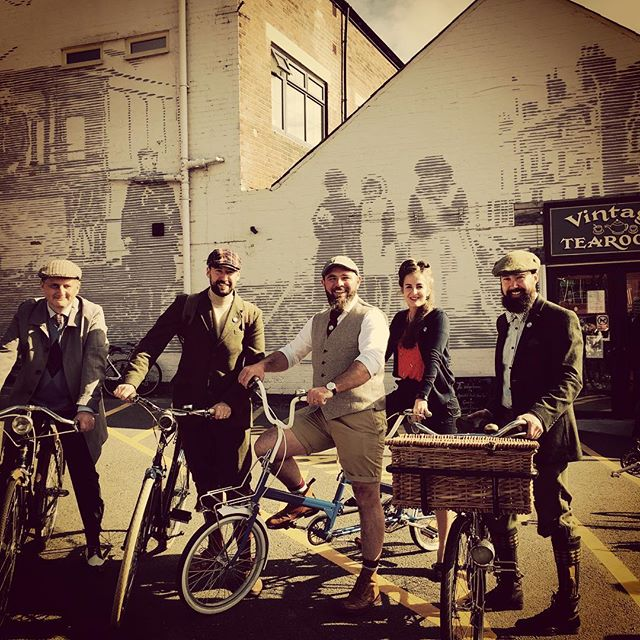A great day with Cycle In Style #vintage #cycle #style #chesterfield #derbyshire #peakdistrict loved the fact everyone made such an effort. #lookinggood 🚴♀️🚴🏾