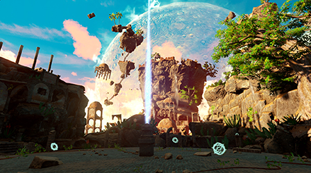 COMMAND THE SKY TO INFLUENCE THE ENVIRONMENT, AFFECTING BOTH VISUALS AND PARKOUR: DISTORT GRAVITY, CONTROL (THE) HEAT OR FLOOD THE LEVEL WITH SEAWATER… THE DECISION IS YOURS TO MAKE.