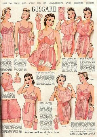 Gossard eye-candy. A vintage ad showing the typical product manufactured during this time. Image via pinterest.