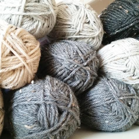 Tweed yarn ready to be knit up!