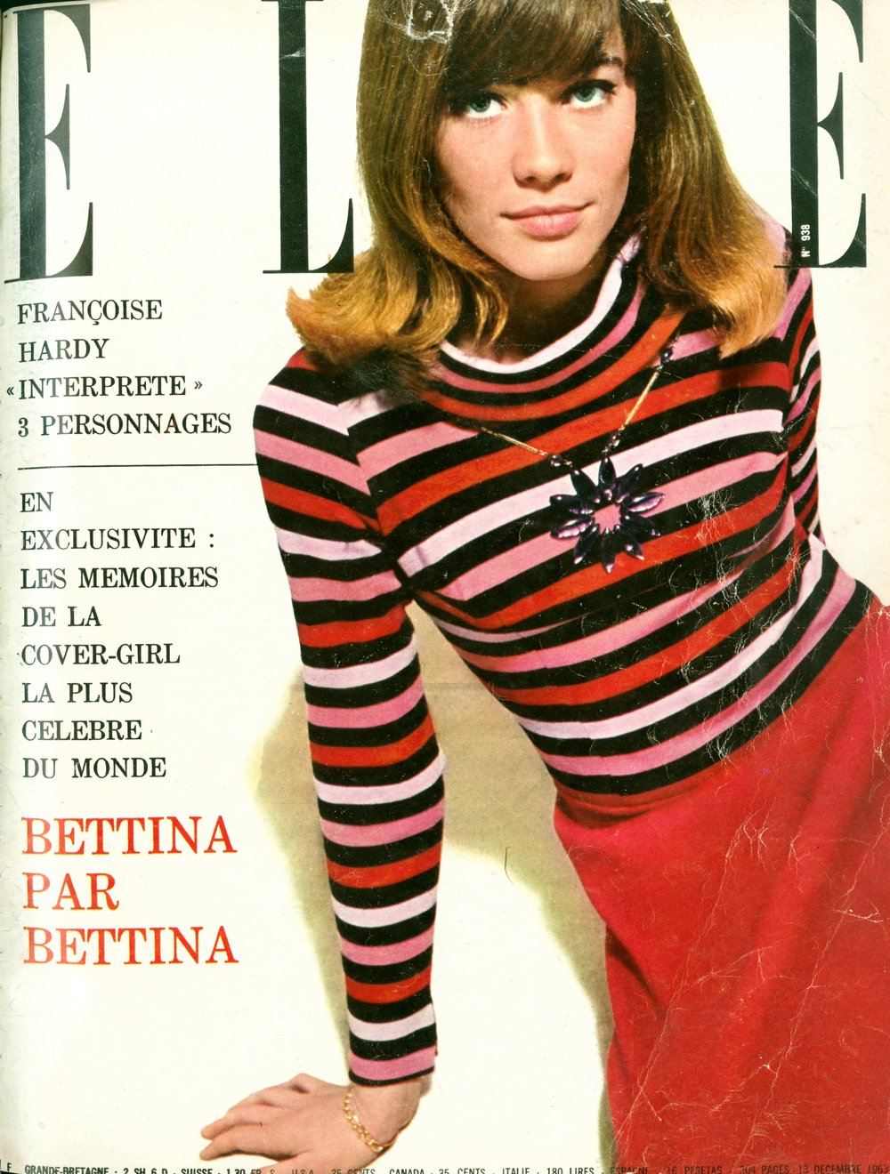1963. Francoise Hardy wearing a Rykiel sweater.