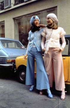 Models in Rykiel. Early Seventies.