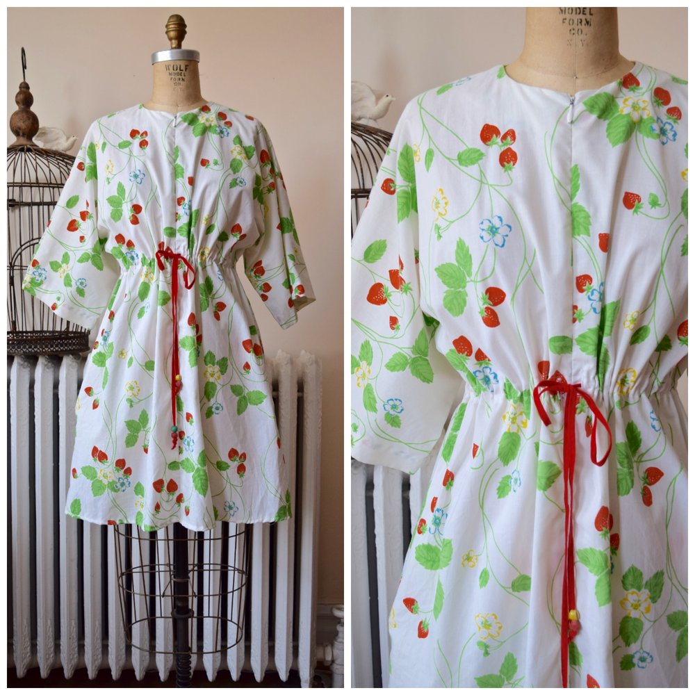 Strawberry Fields Dress/Cover-Up. Vintage 1960s.