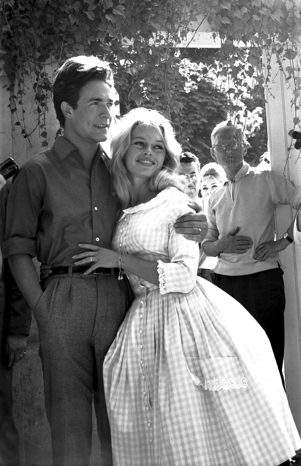 Brigitte Bardot and Jacques Charrier. 1959.