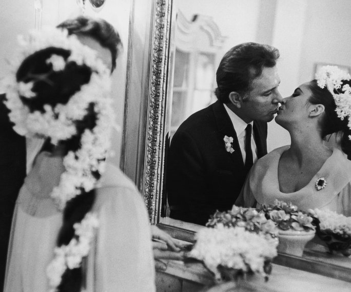Elizabeth Taylor and Richard Burton. 1964.