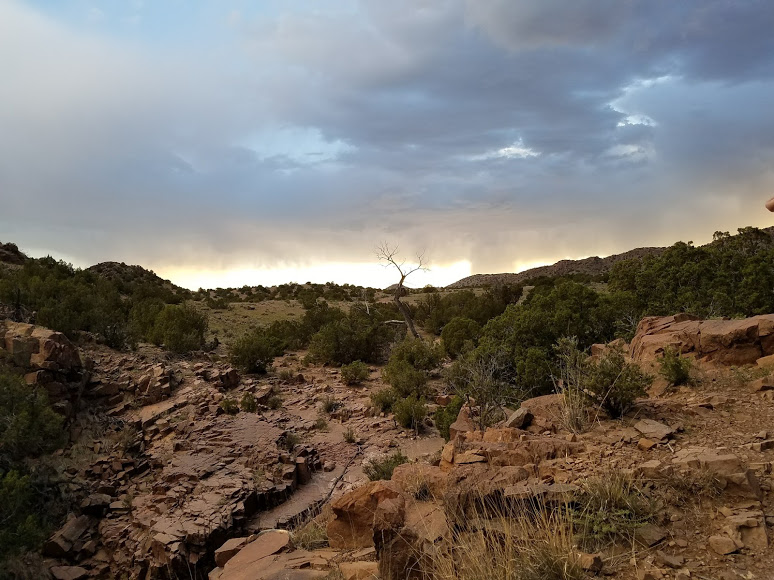 Sunset hike in Ojo Caliente.