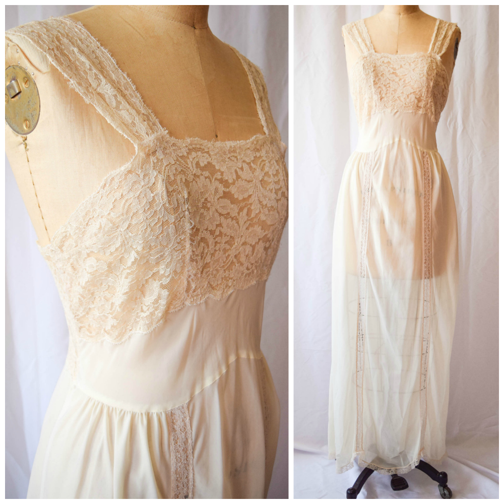 """Colleen. 1950s nightgown. 36"""" Bust. $85"""