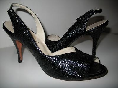 1950's Raffia Slingbacks