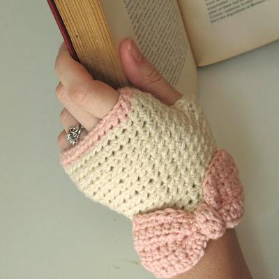 fingerless gloves, crochet, my projects