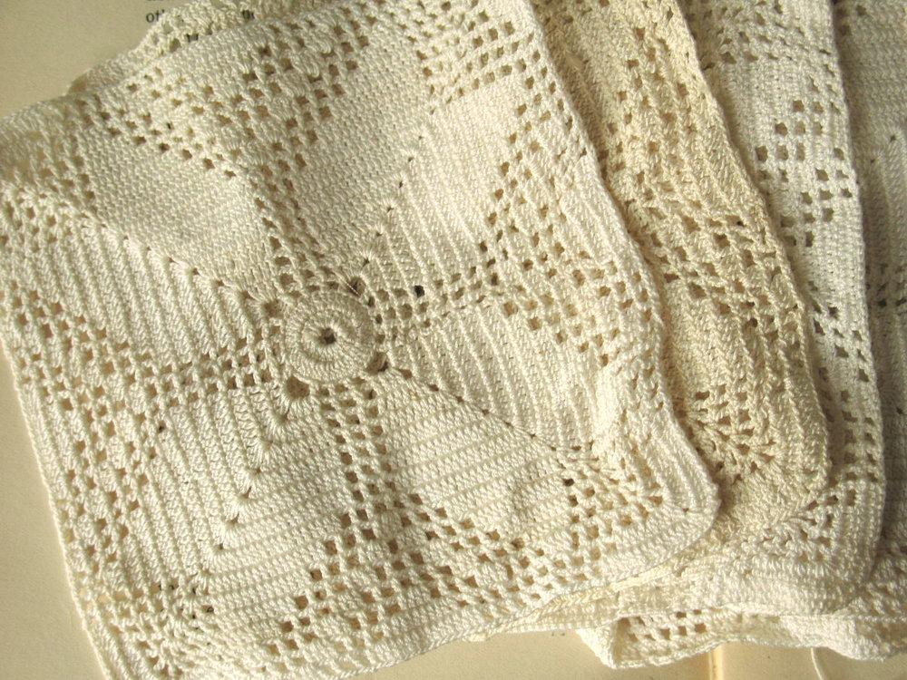 vintage crochet doily shabby chic