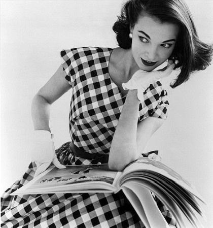 gingham vintage 1950s