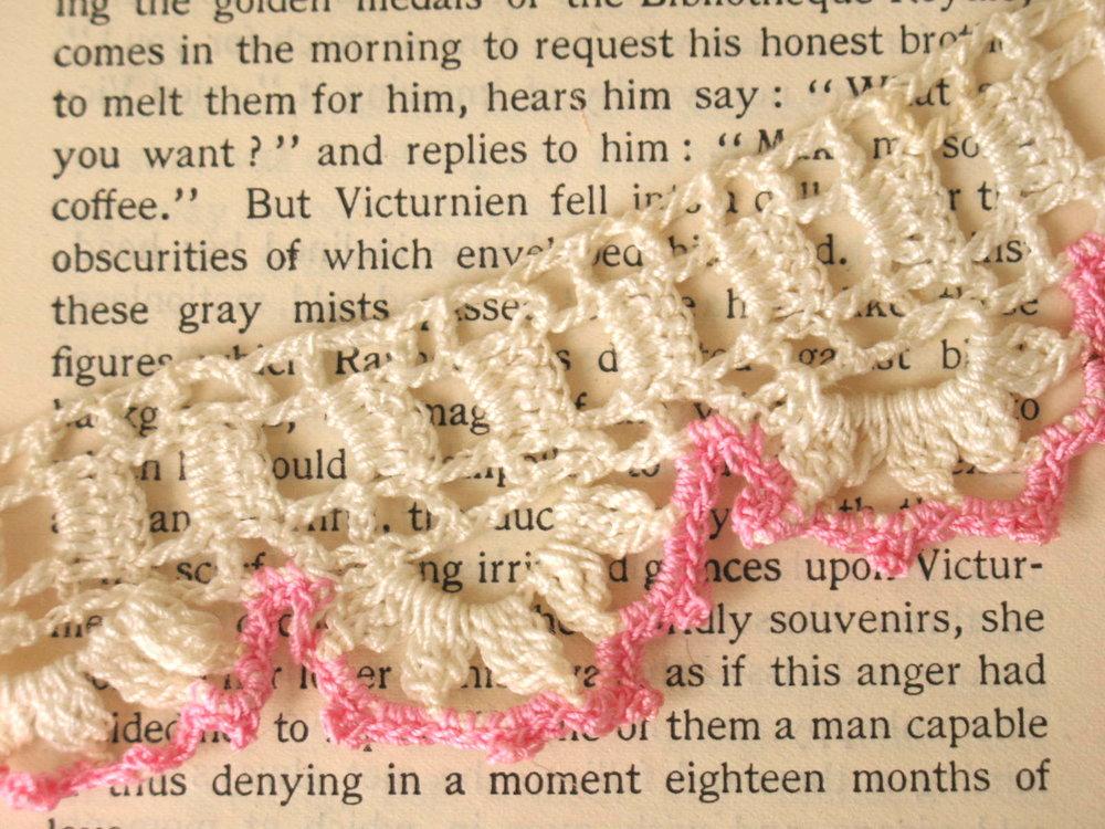 vintage crochet trim shabby chic