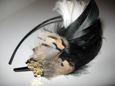 at the speakeasy feather headband