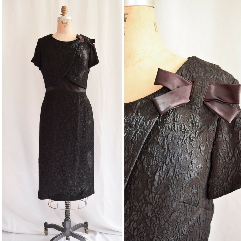Renmor. 1960s matelassé LBD. Click picture to see listing.